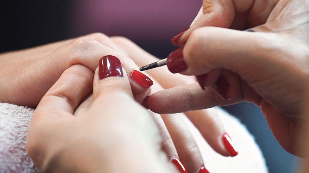 Manicure treatment.